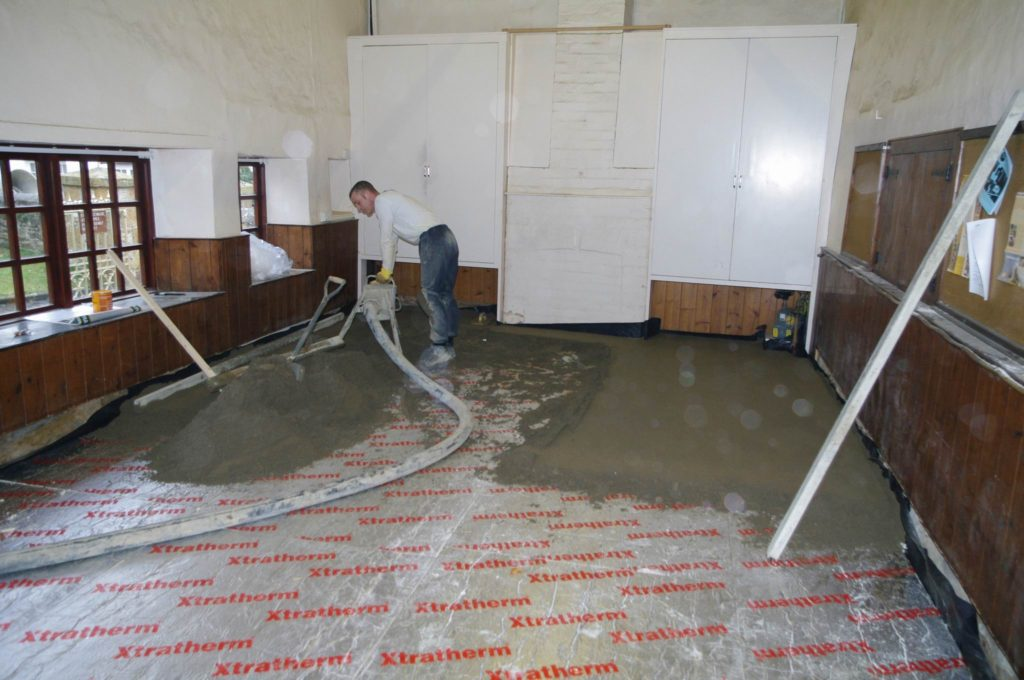Schoolroom renovation work